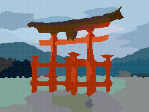 gate Japan cross stitch image