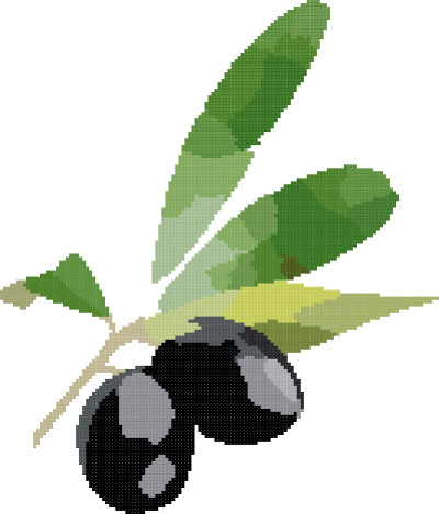 olives cross stitch image