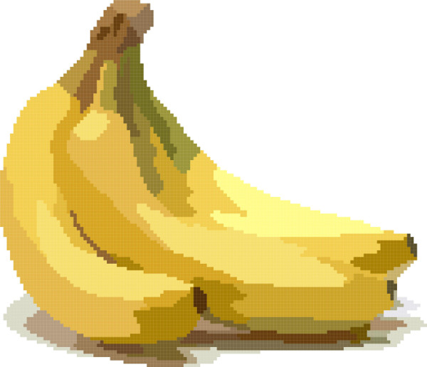 bananas cross stitch image