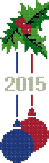 bookmark 10 new year cross stitch image