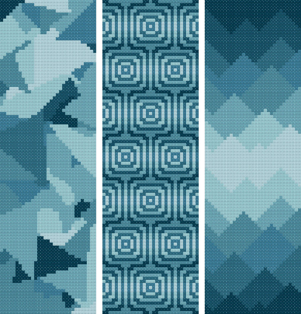 bookmark 11 abstract cross stitch image