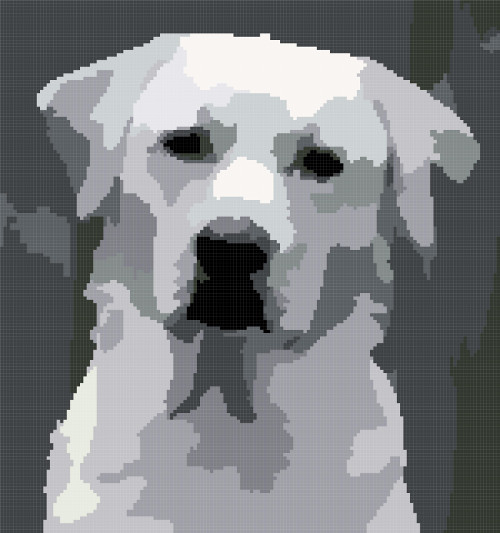 dog cross stitch image