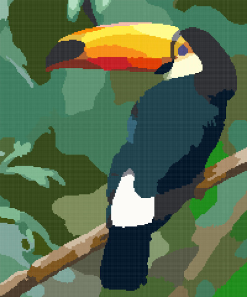 toucan cross stitch image