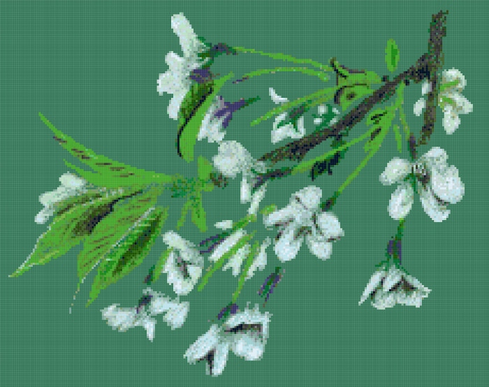 cherry blossom cross stitch image