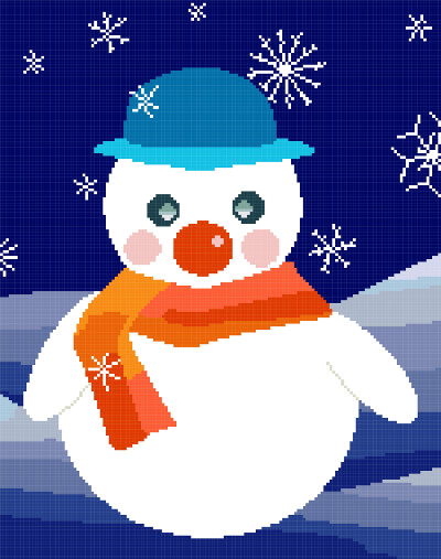 snowman cross stitch image