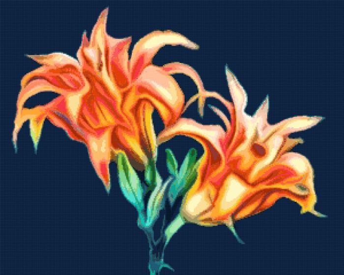 lilies cross stitch image