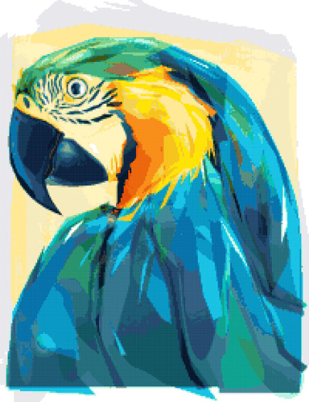 macaw cross stitch image