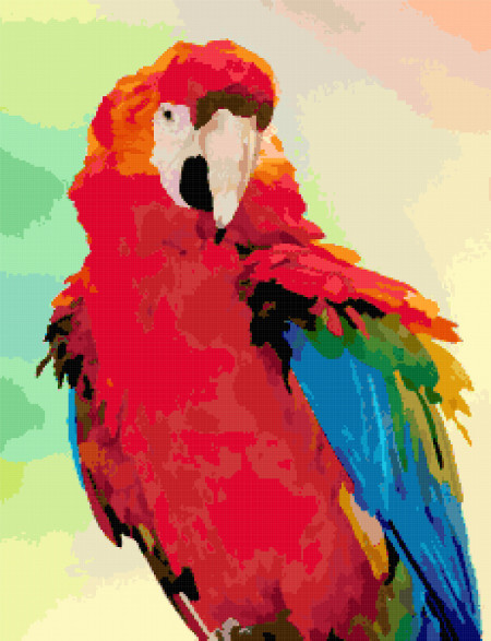 parrot cross stitch image