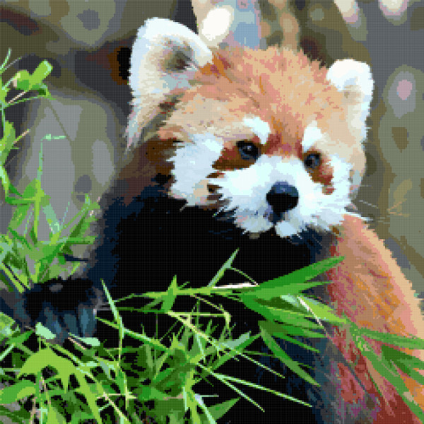 red panda cross stitch image
