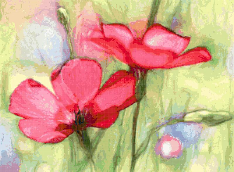 wildflowers cross stitch image