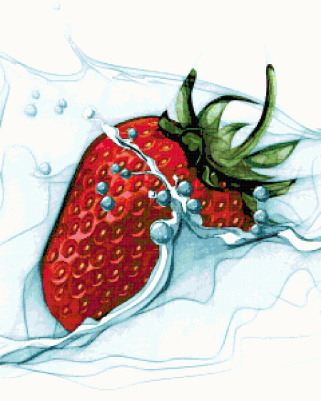 strawberry cross stitch image
