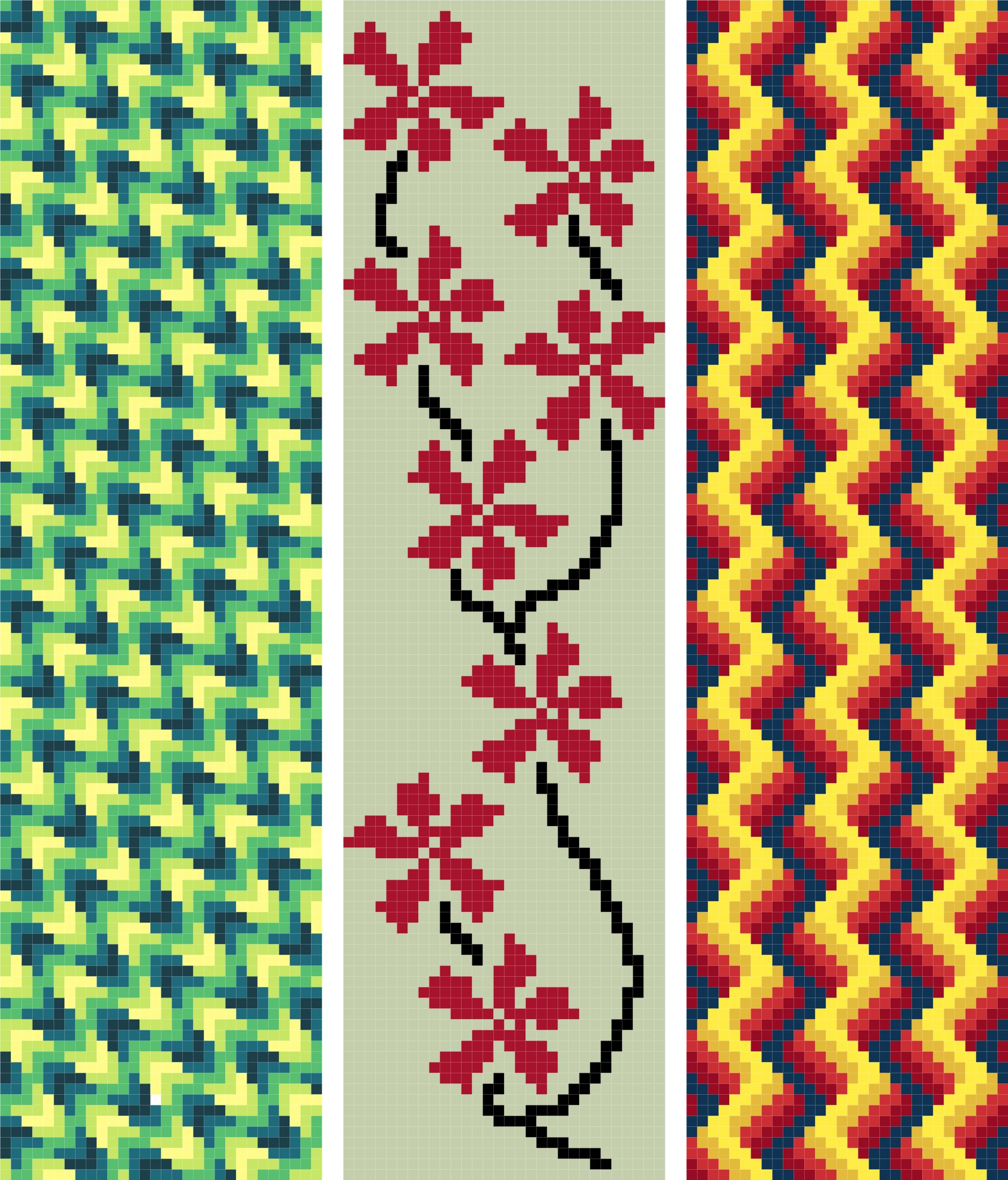 bookmark 15 abstract cross stitch image