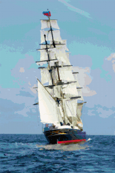 ship cross stitch image