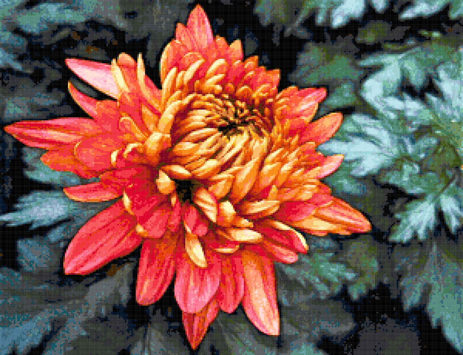 chrysanthemum cross stitch image