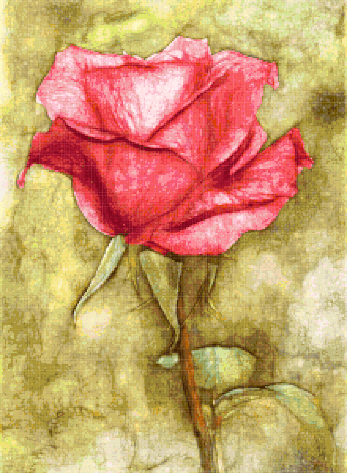 fantasy rose cross stitch image