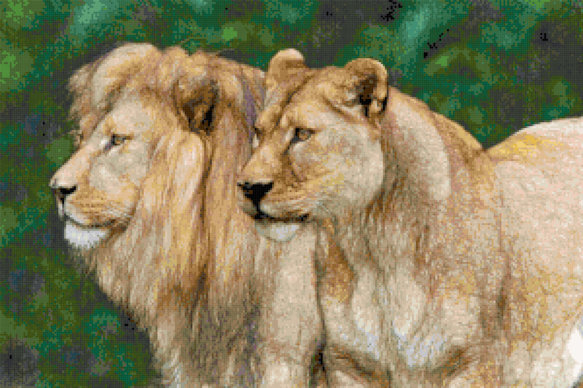 lions cross stitch image