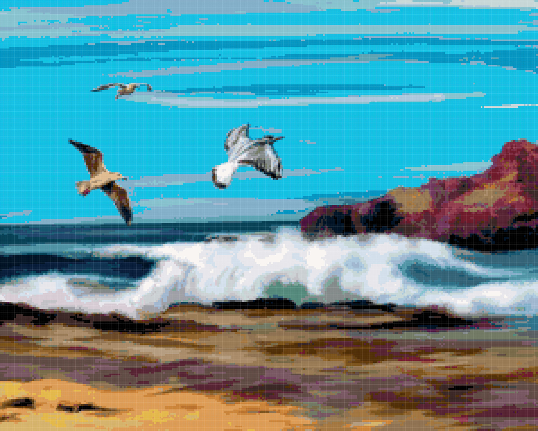 ocean cross stitch image