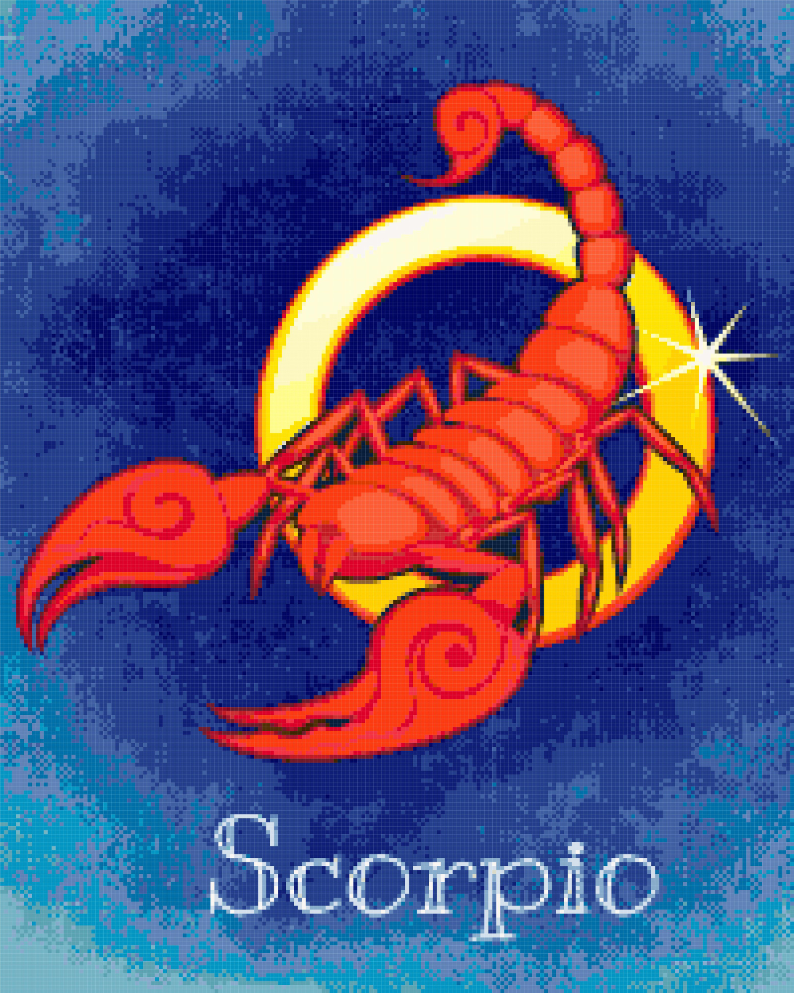 zodiac scorpio cross stitch image