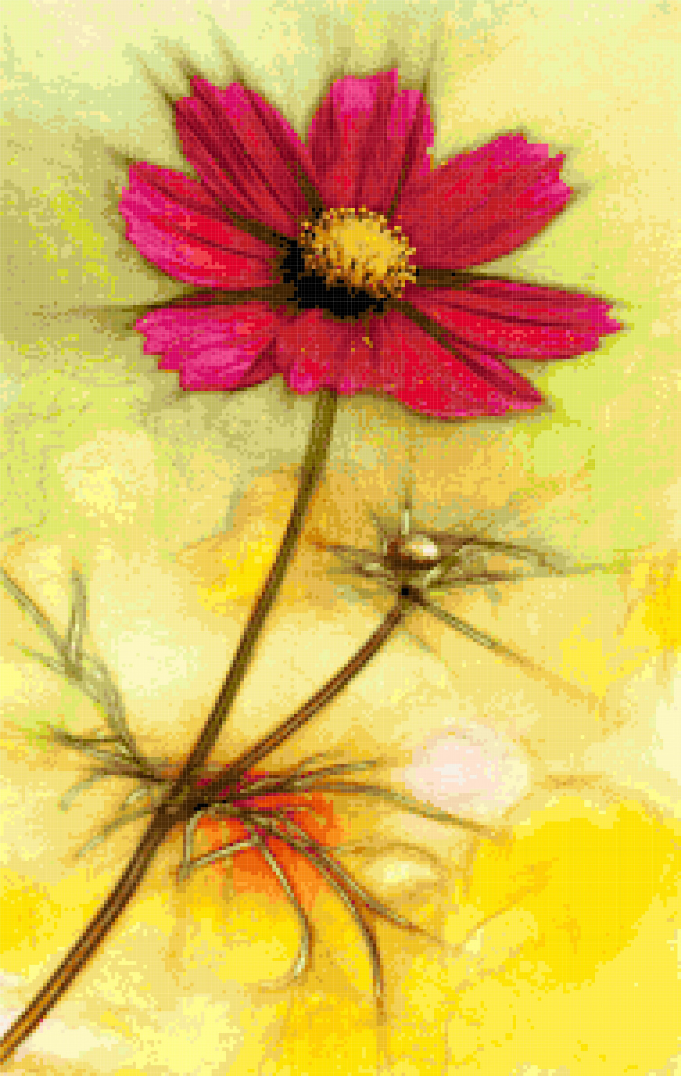 cosmos flower cross stitch image