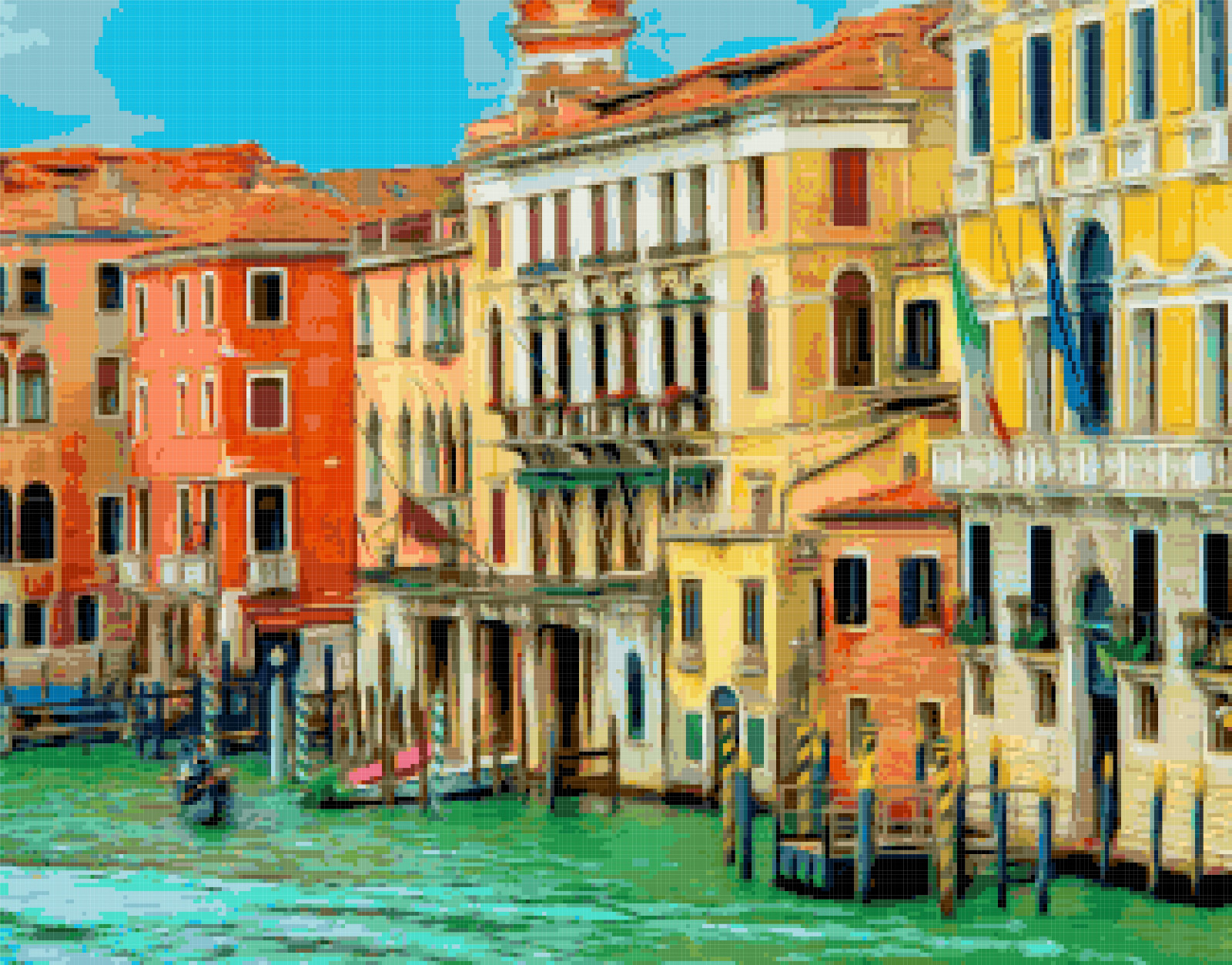 venice grand canal cross stitch image