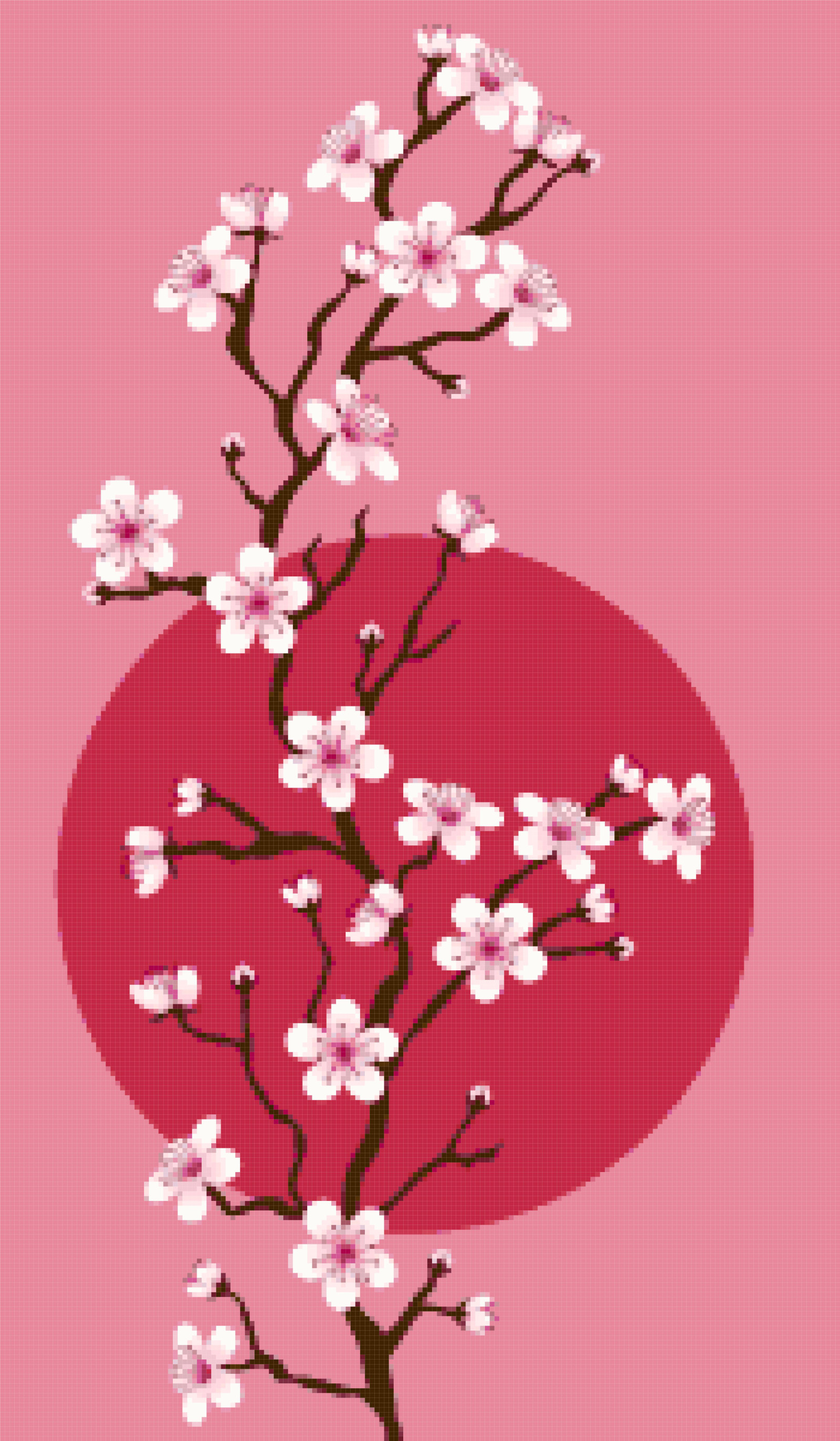 blossom cross stitch image