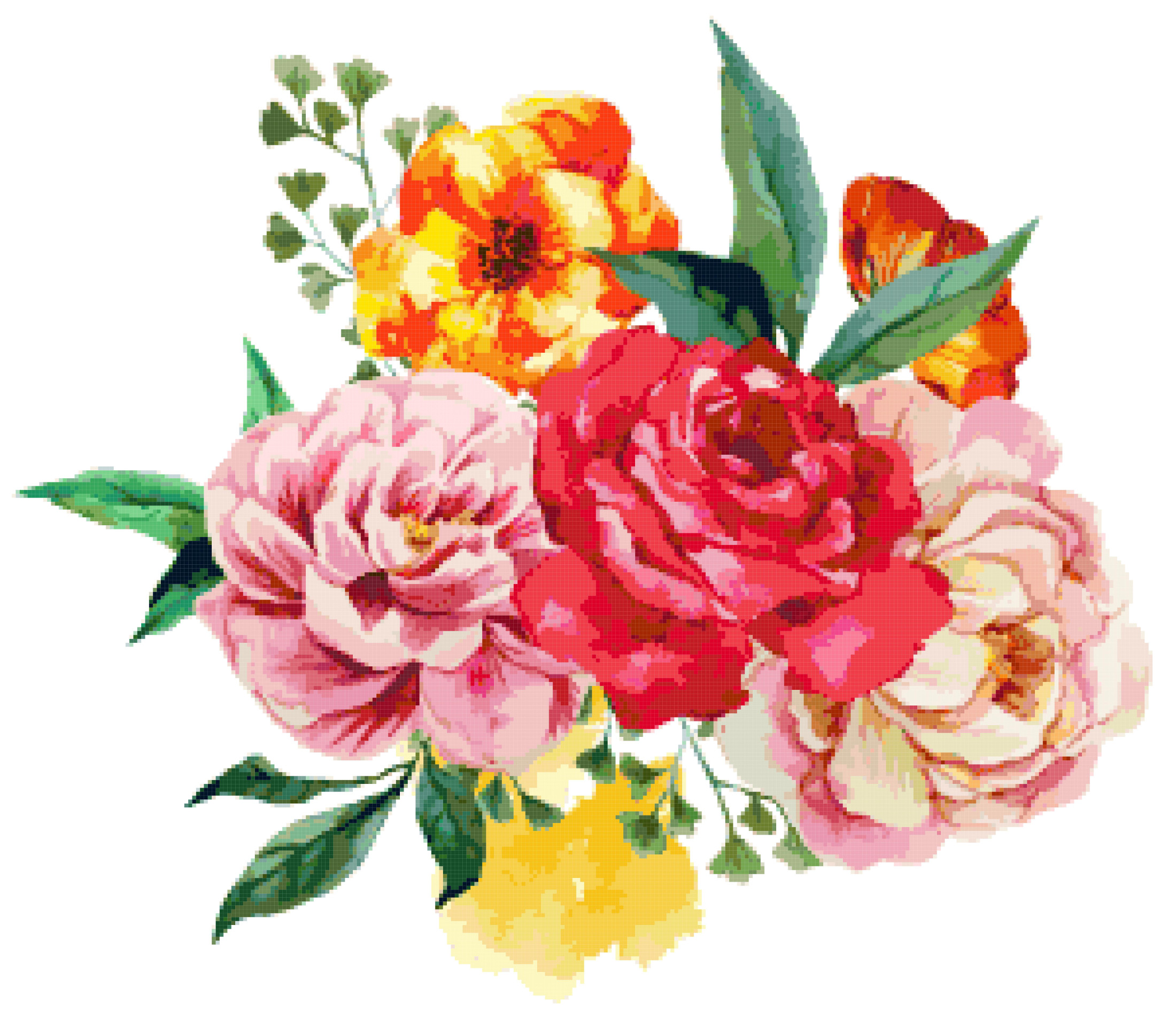 bouquet cross stitch image