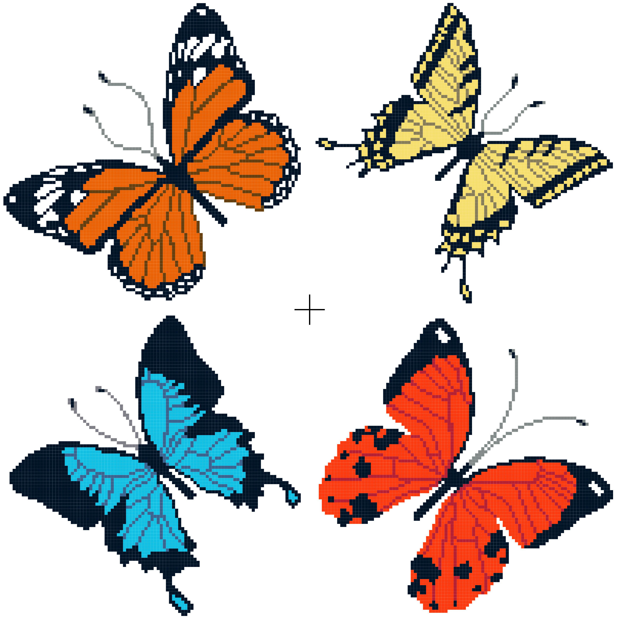 butterflies cross stitch image