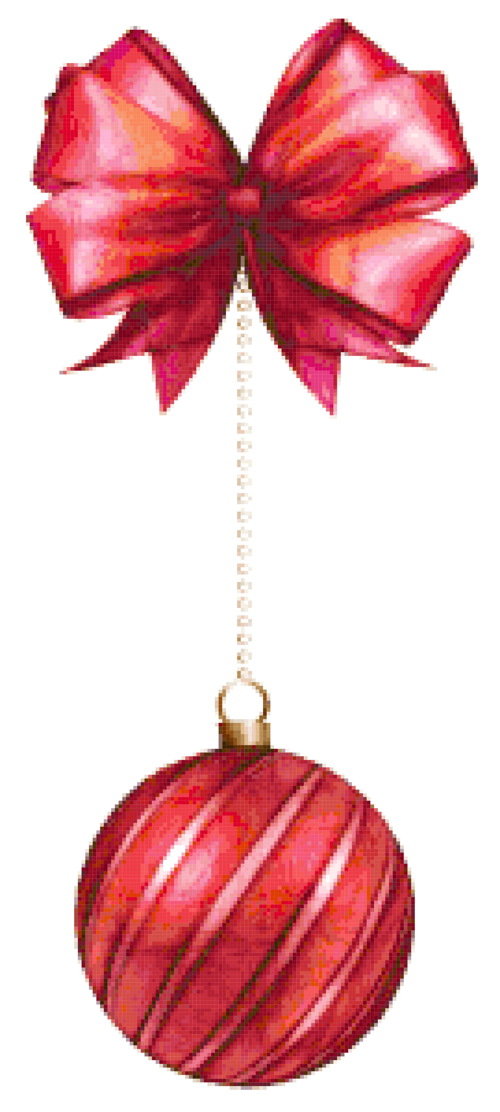 Christmas decoration cross stitch image