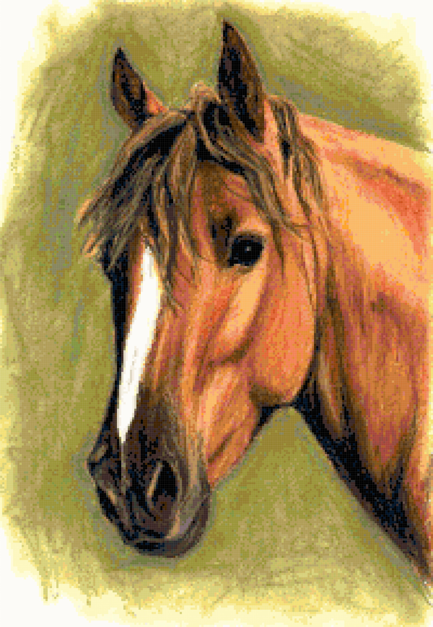 horse cross stitch image