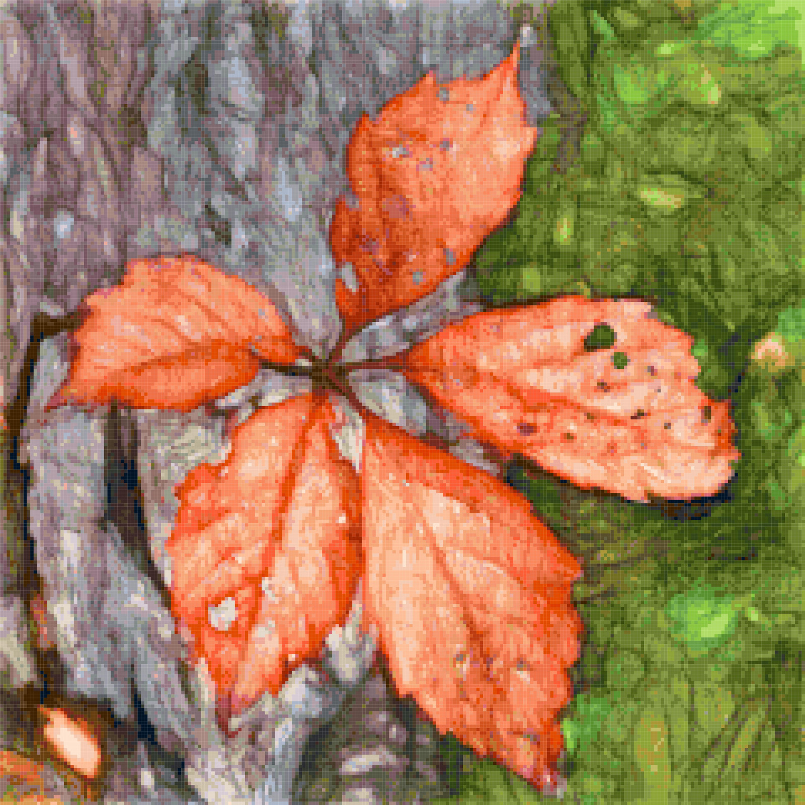 leaf cross stitch image