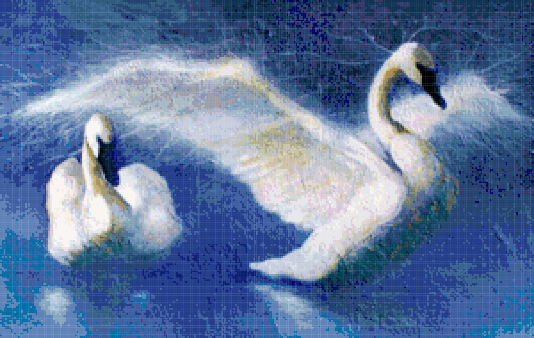 swans cross stitch image