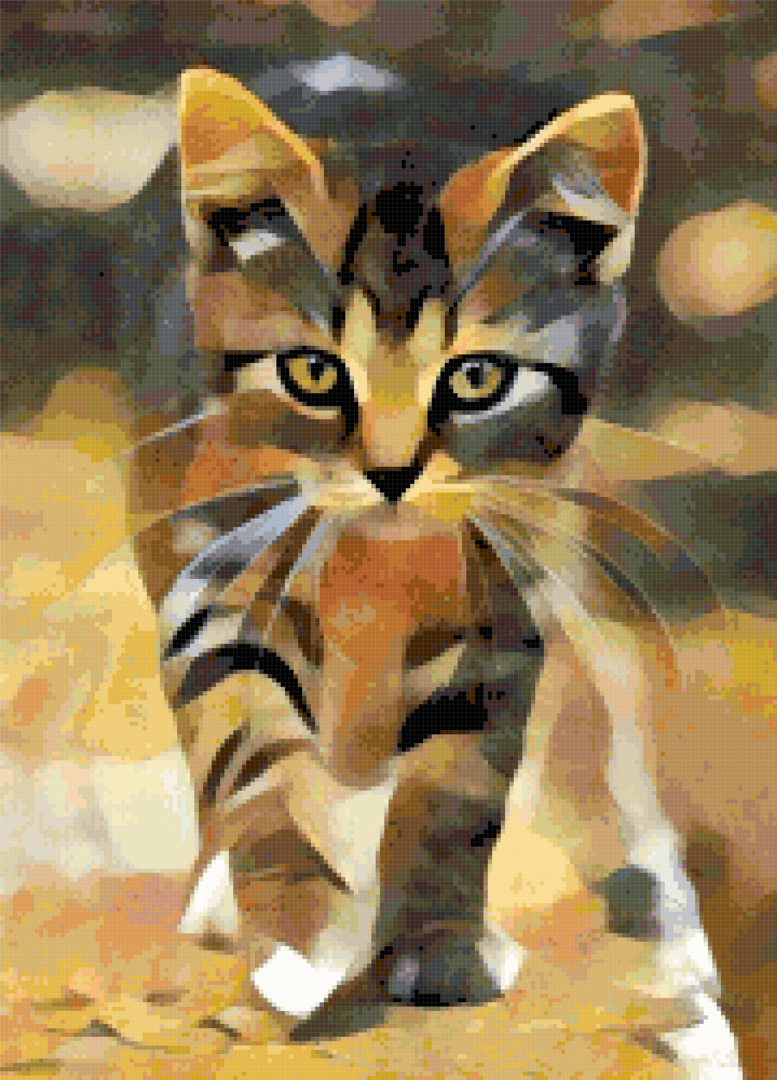 cat walking cross stitch image