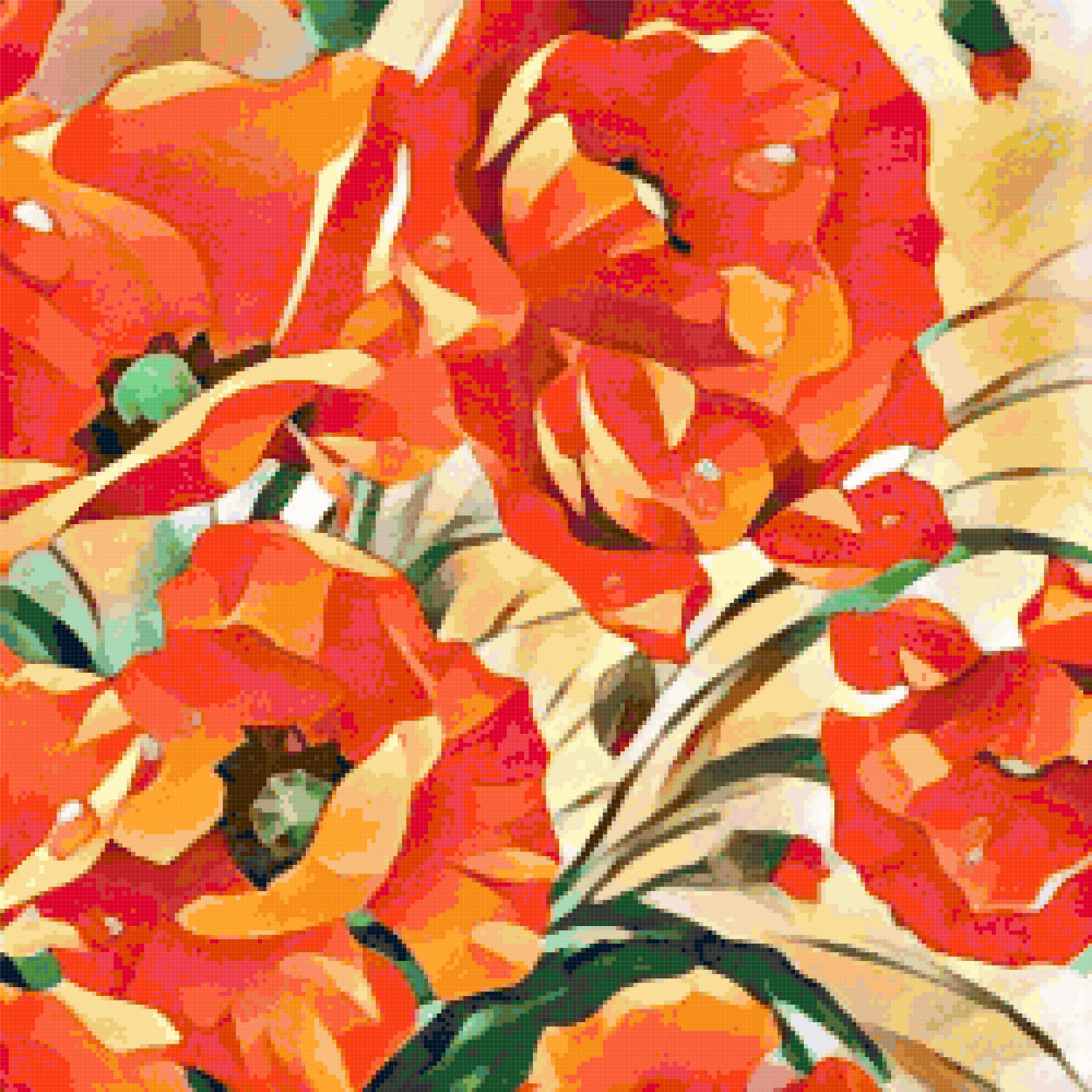 poppies cross stitch image
